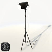 Studio flash photo lamp
