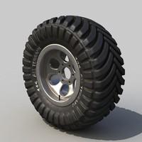 3d off-road wheel model