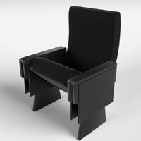 theater armchair 1 3d model