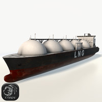 LNG gas tanker low poly