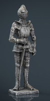 Medieval Knight Statue 3