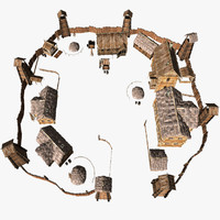 3d model of village pack