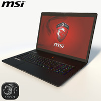Laptop MSI GS70 2QE black low poly