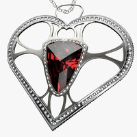 c4d pendant jewel