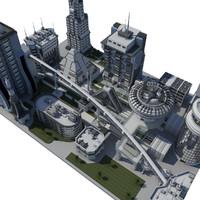 Block science-fiction city(2)