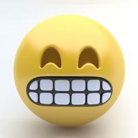 Emoji grimmace
