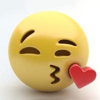 3d emoji kissing