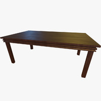 Wooden Table 001