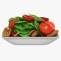 Bowl With Spinach Salad