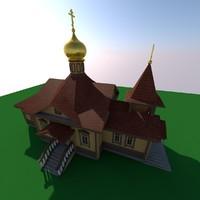 Russian wood church