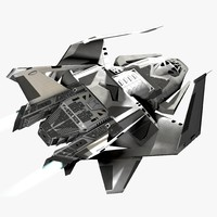spaceship ship 3d model
