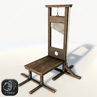 Guillotine low poly