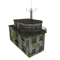 free airbase control tower 3d model
