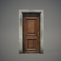 wooden door 3d obj