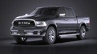 HQ LowPoly Dodge RAM 1500 Laramie Limited 2015 VRAY