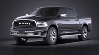 HQ LowPoly Dodge RAM 1500 Laramie Limited 2017
