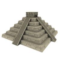 mayan pyramid 3d model