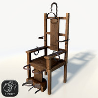 Electric chair low poly