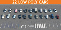 22 CARS LOW POLY