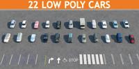 20 cars 3d model