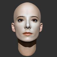 Beauty woman head 2