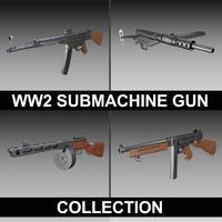 3d submachine guns ww2 thompson