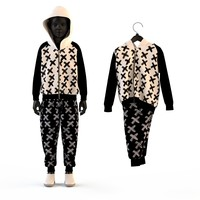 Child Baby boy knitted suit