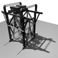 free portal crane kp-640 3d model