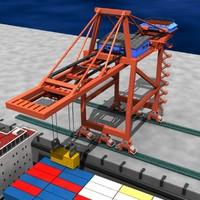 shipping crane cargo 3d model