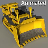 Bulldozer animated