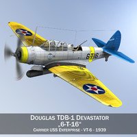 Douglas TDB-1 Devastator - 6T16