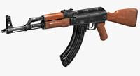 3d russian rifle ak47 gun