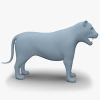 Lion Base Mesh