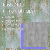 Rusty Metal (2 in 1) (+ normal maps)