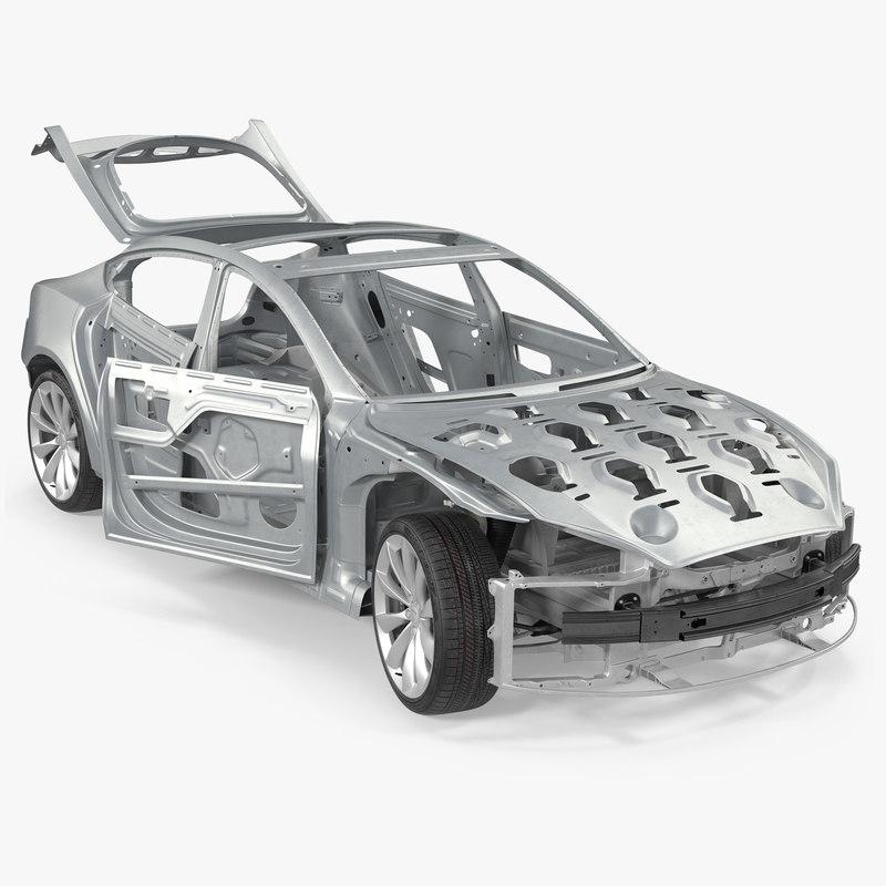 2016 Tesla Model S Suspension: 3D Max Tesla Model S