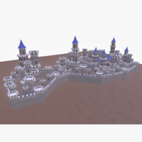 toon low-poly castle