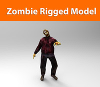zombie man low poly game ready
