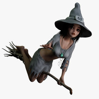 witch rigged 3d model