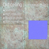Old ceiling (+ normal map)