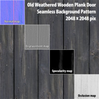 Weathered Plank Door