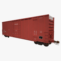 Railroad Boxcar 50ft BN CNA Red