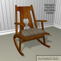 3d rocking chair s model