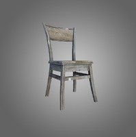 Old Chair Low-Poly