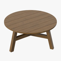 Patio Coffee Table Round 01