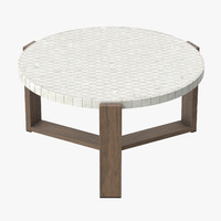 Patio Coffee Table Round 03