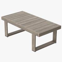 Patio Coffee Table (Square) 02