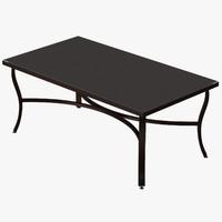 Patio Coffee Table (Square) 03