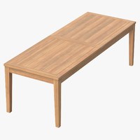 Patio Dining Table Rectangle (seats 8) 02