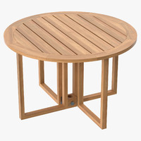 Patio Dining Table Round (seats 6) 01