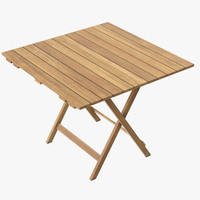 Patio Square Card Table 01